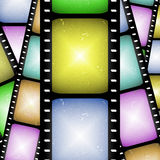 Abstract movie film strip. Abstract composition of movie frames or film strip Stock Photos
