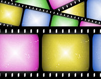 Abstract movie filmstrip. Abstract composition of movie frames or film strip Stock Photos
