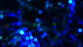 Abstract moving bokeh lights background. stock footage