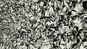 Abstract moving pieces in silver color stock footage