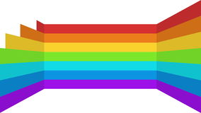 Abstract moving rainbow stripes background stock video