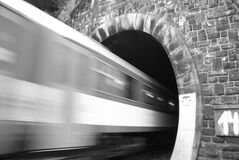 Free Abstract Moving Train Into The Tunnel. Stock Image - 185893451