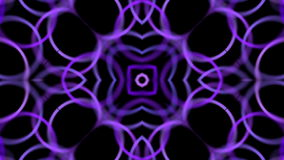 Abstract moving violet rings stock video footage