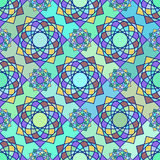 Abstract mozaïek spirograph patroon Stock Illustratie