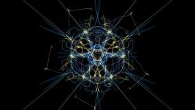 Abstract multi-color background. Creative digital art. Silk symmetry series vector illustration