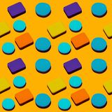 Abstract multi color beauty sponges seamless pattern. royalty free stock images