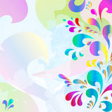 Abstract multi color drop background Royalty Free Stock Photo