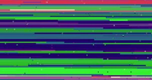 Abstract multi color realistic screen glitch flickering, analog vintage TV signal with bad interference and color bars, static. Noise background, overlay ready stock video