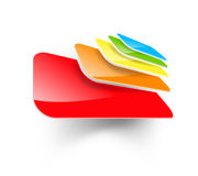 Abstract multi colored icon Royalty Free Stock Photos