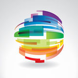 Abstract multi-colored sphere Stock Images