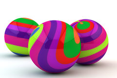 Abstract multi-colored spheres. On a white background stock illustration