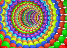 Abstract multi colored tunnel Stock Image