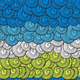 Abstract multi-colored waves pattern with swirls Royalty Free Stock Photo