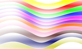 Abstract Multi Colors Curved Strips Vector Design. royalty free illustration
