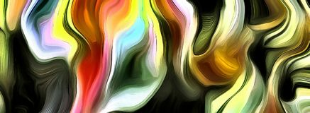 Abstract of multi colors and lines. 3D rendering vector illustration