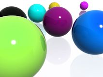Abstract multi-colour balls Royalty Free Stock Photo