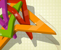 Abstract multi-colour 3d shapes. Full editable vector illustration Royalty Free Stock Image