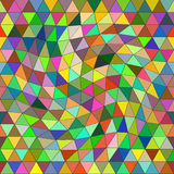Abstract multicilired triangle background Stock Photography