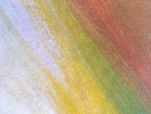 Abstract multicolor art background. Abstract art background white, yellow and red color. Multicolor oil painting on canvas. Fragment of artwork. Texture Royalty Free Stock Photography