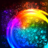 Abstract multicolor background. Abstract multicolor circle background and boke Royalty Free Illustration