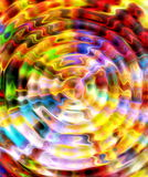 Abstract multicolor background and color fractal effect. Water circle effect. Royalty Free Stock Image
