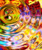 Abstract multicolor background and color fractal effect. Water circle effect. Stock Photography