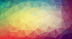 Abstract multicolor background with gradient triangle shapes Stock Image