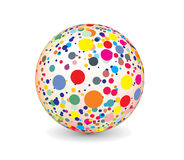 Abstract multicolor ball. 3d vector abstract multicolor ball with raster image of vector illustration Stock Photos
