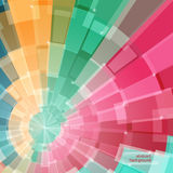 Abstract multicolor circle tunnel Royalty Free Stock Image
