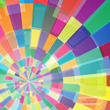 Abstract multicolor circle tunnel. Background. Vector illustration Royalty Free Stock Photography