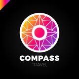 Abstract multicolor compass symbol. Vector logotype design template. Modern concept for travel. Abstract multicolor compass symbol. Vector logotupe design vector illustration
