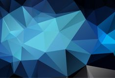 Abstract multicolor dark blue geometric rumpled triangular low poly style gradient illustration graphic background. Vector polygon. Al design for your business stock illustration