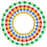 Abstract multicolor dotted circles. Colorful circle decoration. Royalty free vector illustration Royalty Free Stock Photography