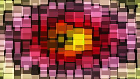 Abstract multicolor flashing squares stock video