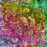 Abstract multicolor floral background. Abstract decorative cartoon multicolor rainbow floral background Royalty Free Stock Photography