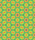 Abstract multicolor floral pattern, Colorful tile texture background, Rainbow colored seamless illustration Royalty Free Stock Image