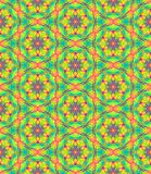 Abstract multicolor floral pattern, Colorful tile texture background, Rainbow colored seamless illustration Royalty Free Stock Photography