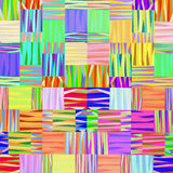 Abstract multicolor geometric linear background. The image to be printed on fabric and interior design Stock Images