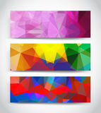 Abstract multicolor geometric triangles banners Royalty Free Stock Photo