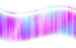Abstract multicolor halftone waves Stock Images