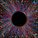 Abstract multicolor laser beams. EPS 8 stock illustration