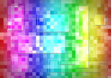 Abstract  multicolor, lights, mosaic background Stock Image