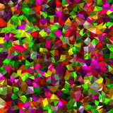 Abstract multicolor low-poly vector background - decorative pattern Stock Images