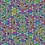 Abstract multicolor mosaic pattern, Colorful ornate tile texture background, Rainbow colored seamless illustration Royalty Free Stock Photos