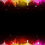 Abstract Multicolor Music Equalizer. Abstract music multicolor background with equalizer and music waves Royalty Free Stock Photography