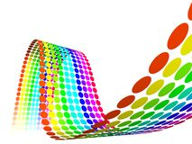 Abstract Multicolor Rainbow Circles. Multicolour straps - rainbow, wave, waves, white background Stock Photography