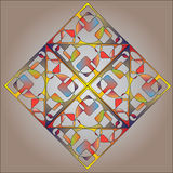 Abstract multicolor square background Stock Photo