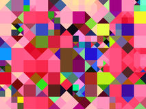 Abstract multicolor squares background Stock Photos