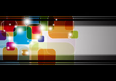 Abstract multicolor squares with black frame Royalty Free Stock Photography