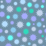 Abstract multicolor star firework background. Circles seamless pattern. Stock Images